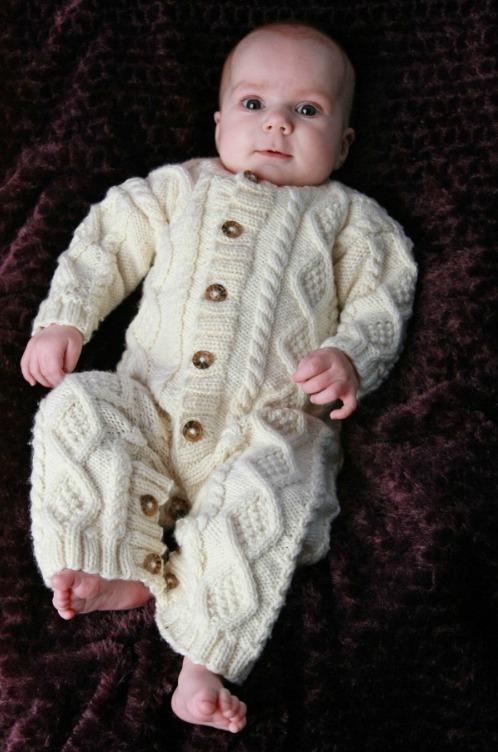 Baby Aran Body Suit Hat Amp Booties Eileen Casey Creations