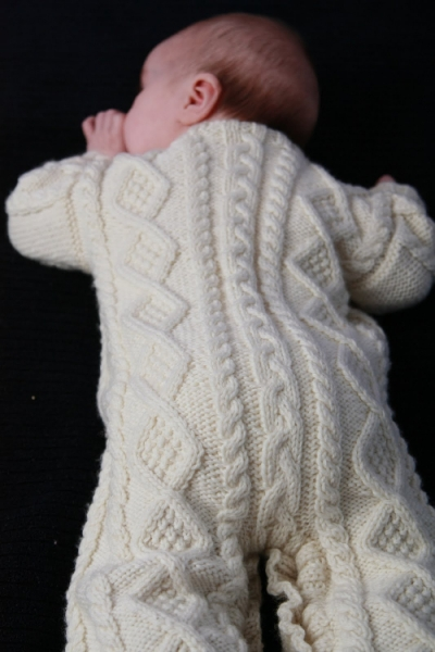 Baby Aran Body Suit, Hat & Booties - Eileen Casey Creations
