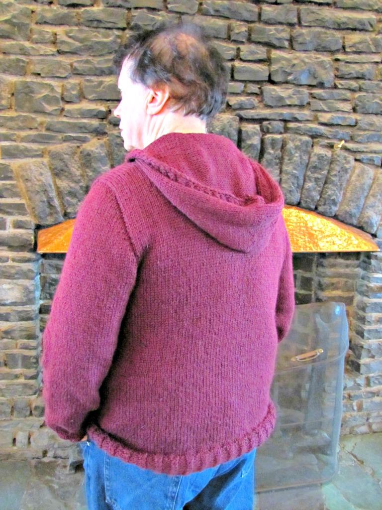 Knitting Pattern Bear Hoodie : Papa Bear Hoodie - Eileen Casey Creations